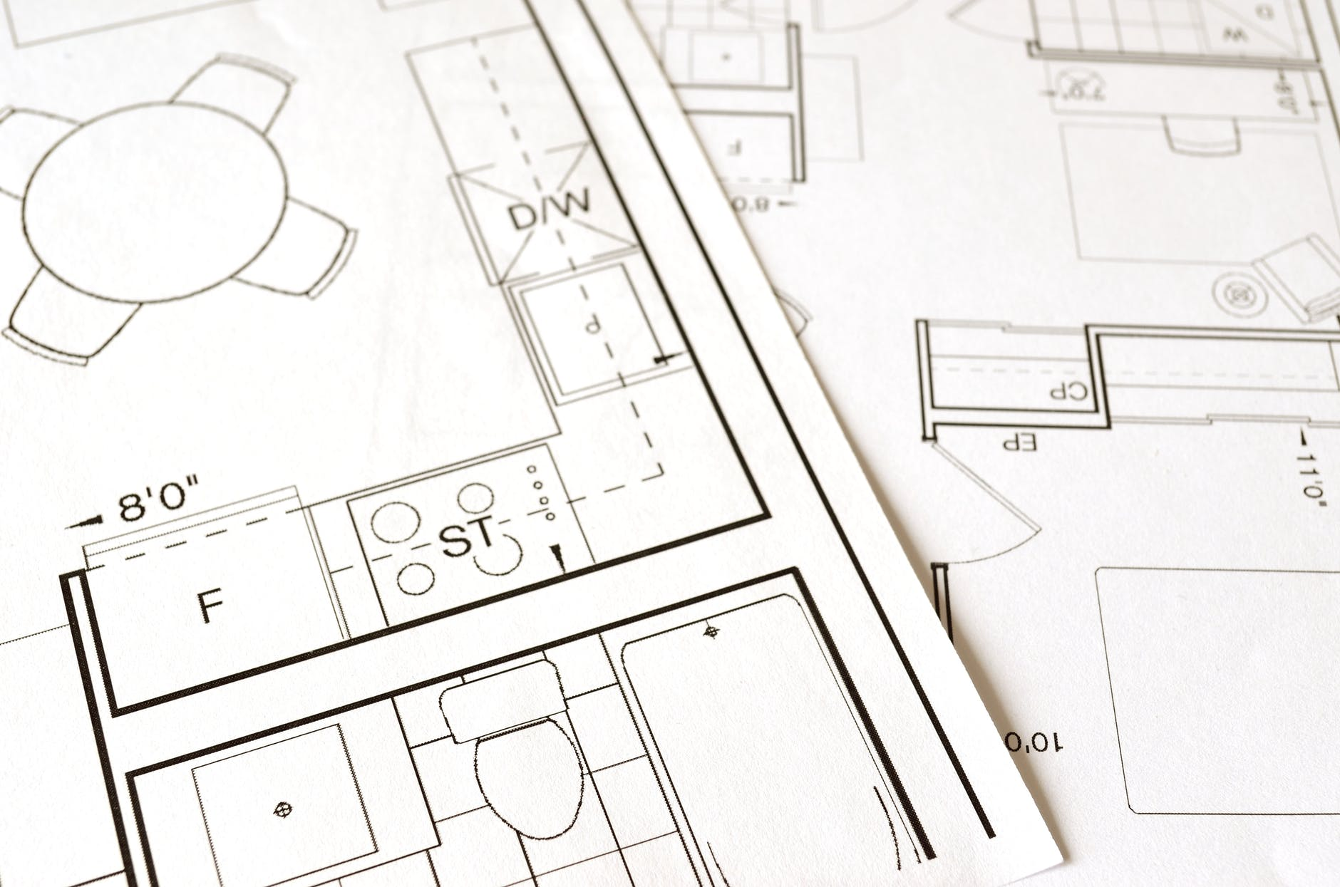 a blue print of a house to be built