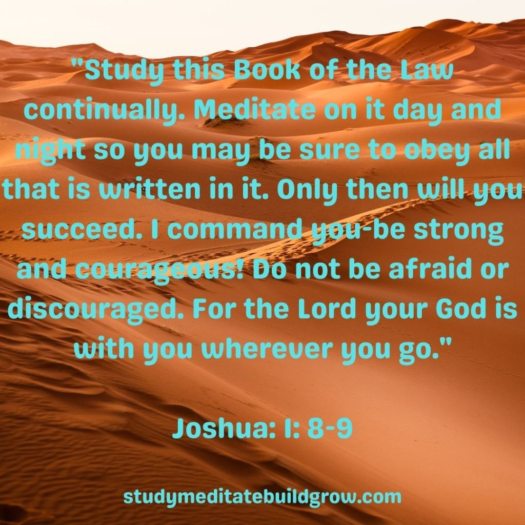 Picture of the desert, when scripture from the bible.
