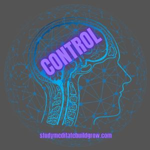 """Structure of head with the word """"control"""" written on the brain."""