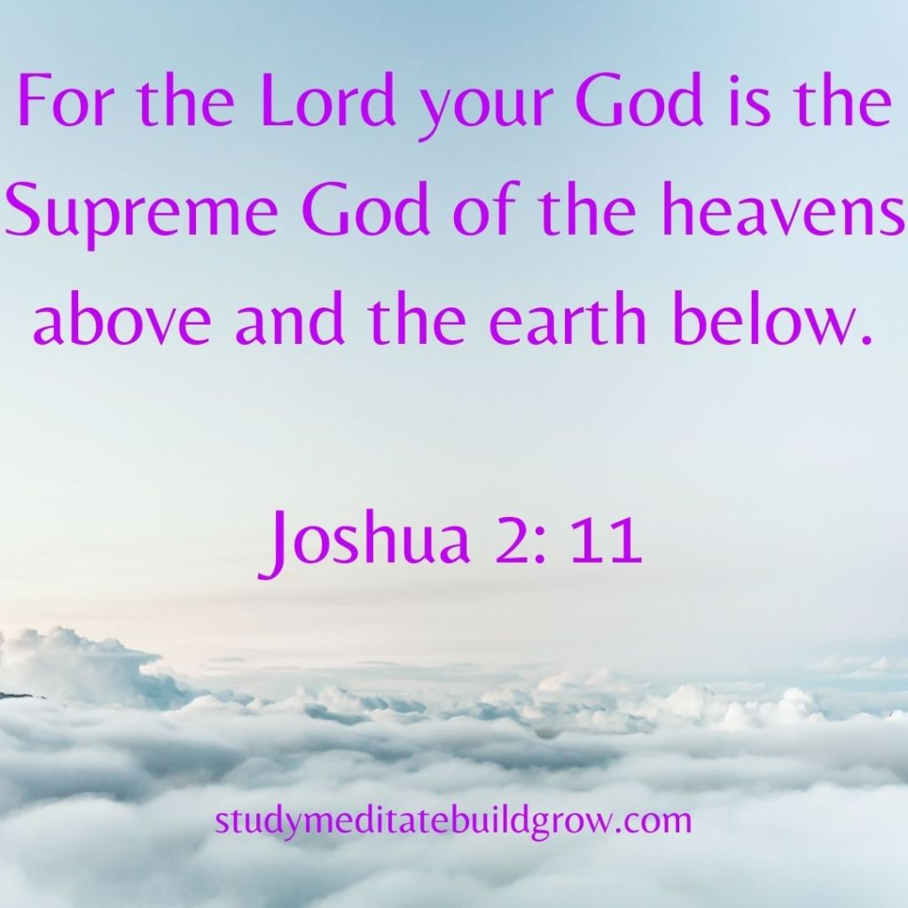 Picture of sky and clouds, with scripter message from the bible.